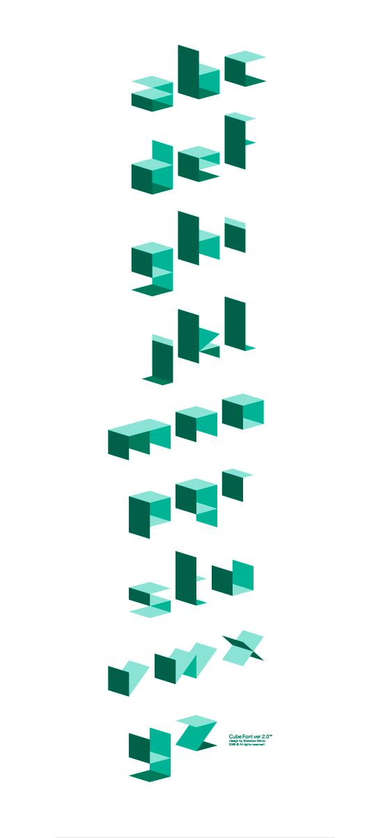 Cube font 2