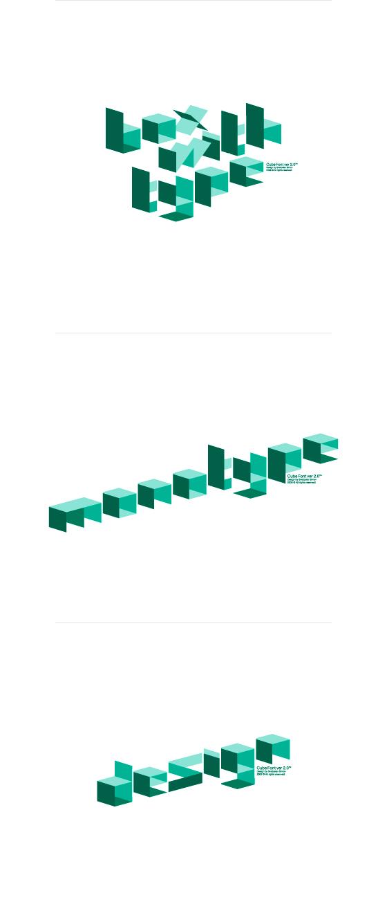 Cube font 3